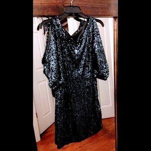 Cachet Blue Sequin Dress